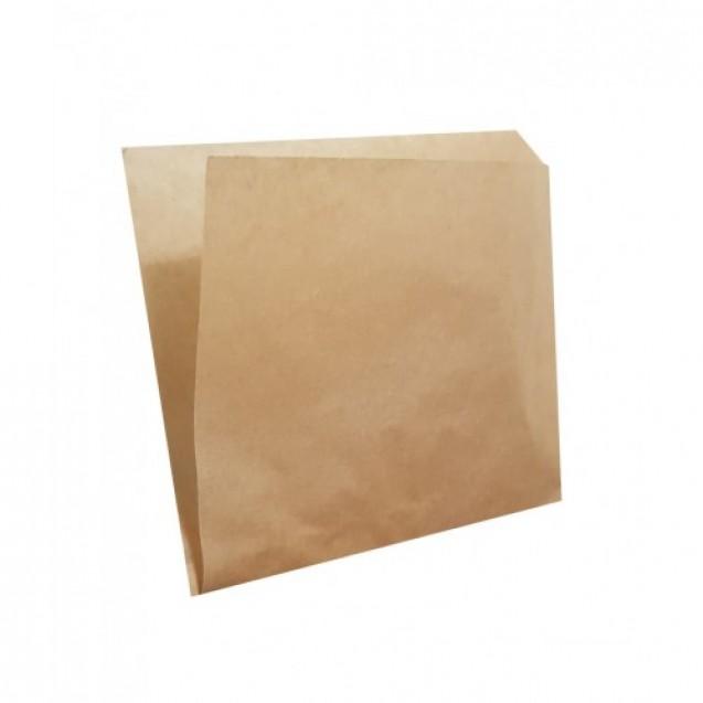 Pungi din hartie (tip coltar), natur, neimprimate, 15x15 cm, cutie 5000 buc